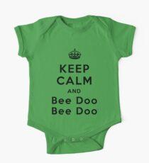 Keep Calm and Bee Doo Bee Doo One Piece - Short Sleeve