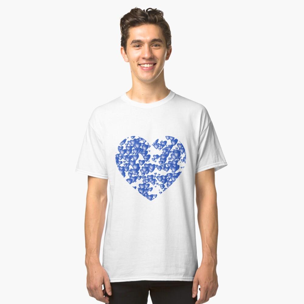 Blue heart pattern Classic T-Shirt