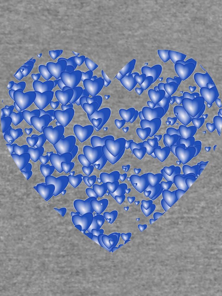 Blue heart pattern by starchim01