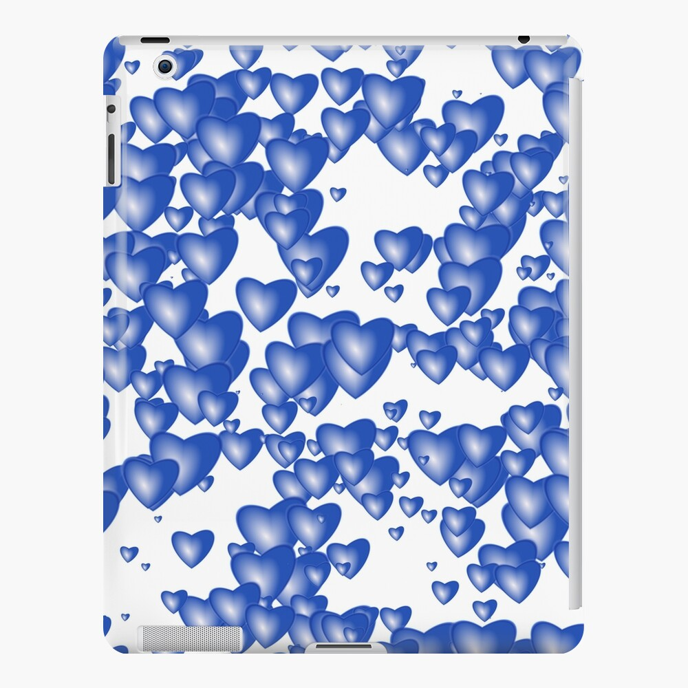 Blue heart pattern iPad Case & Skin