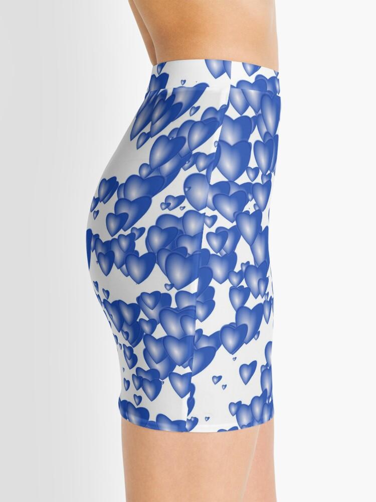 Alternate view of Blue heart pattern Mini Skirt