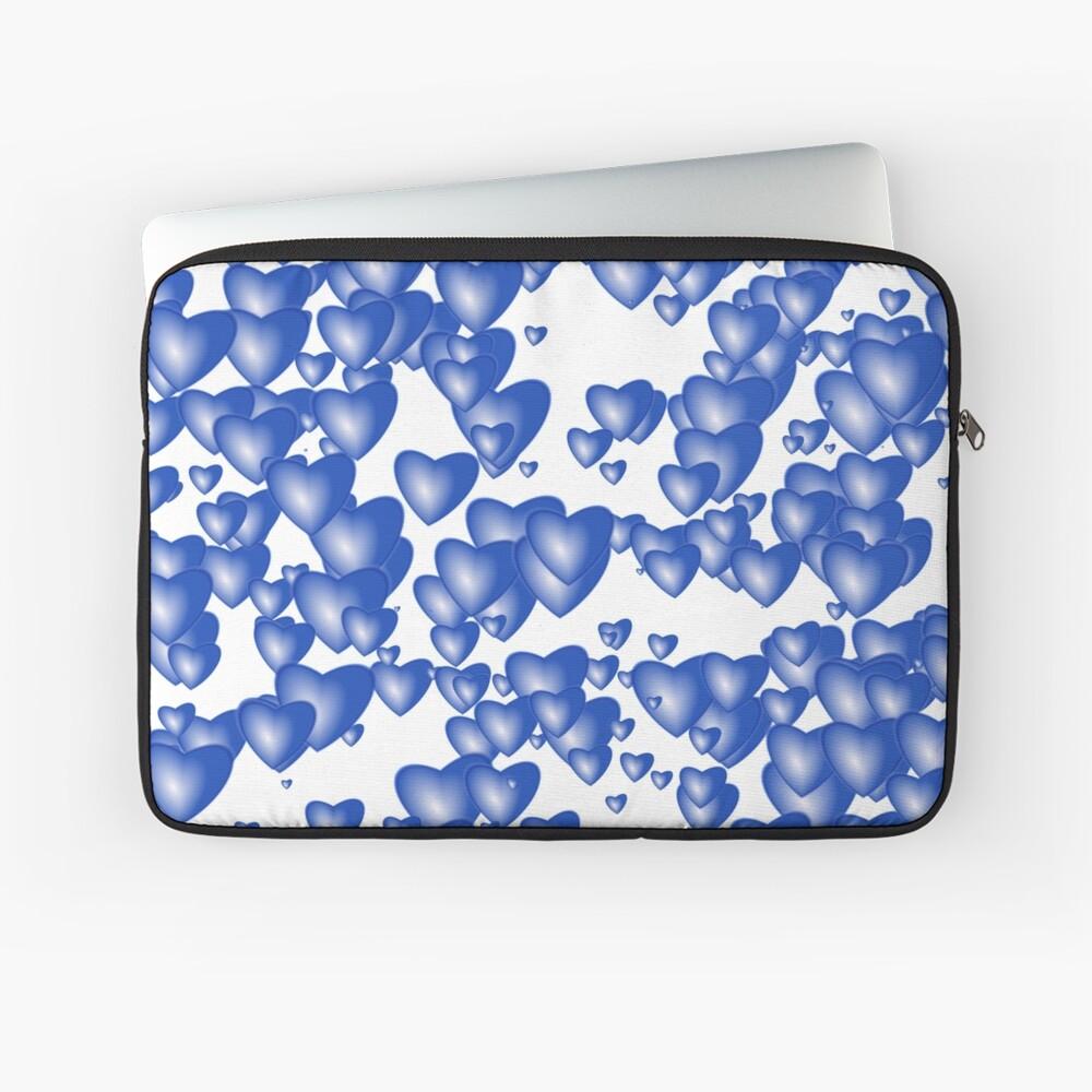 Blue heart pattern Laptop Sleeve
