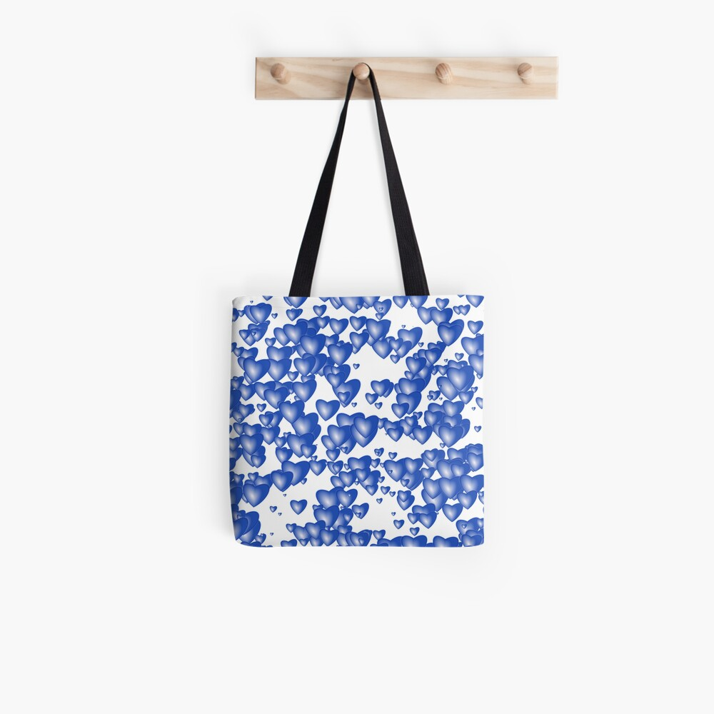 Blue heart pattern Tote Bag