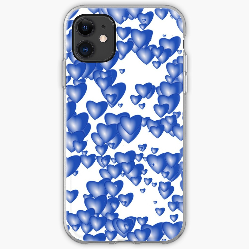 Blue heart pattern iPhone Case & Cover