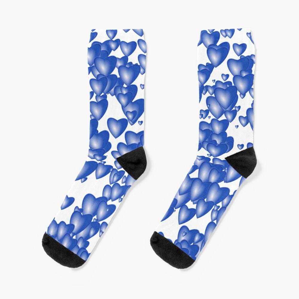 Blue heart pattern Socks