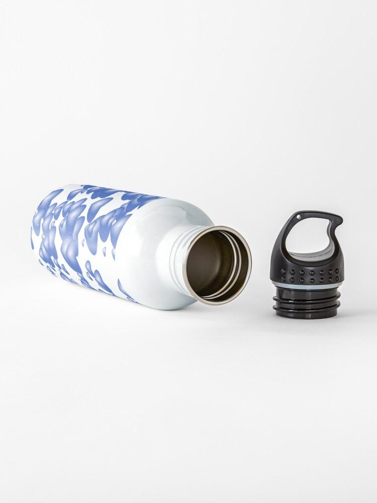 Alternate view of Blue heart pattern Water Bottle