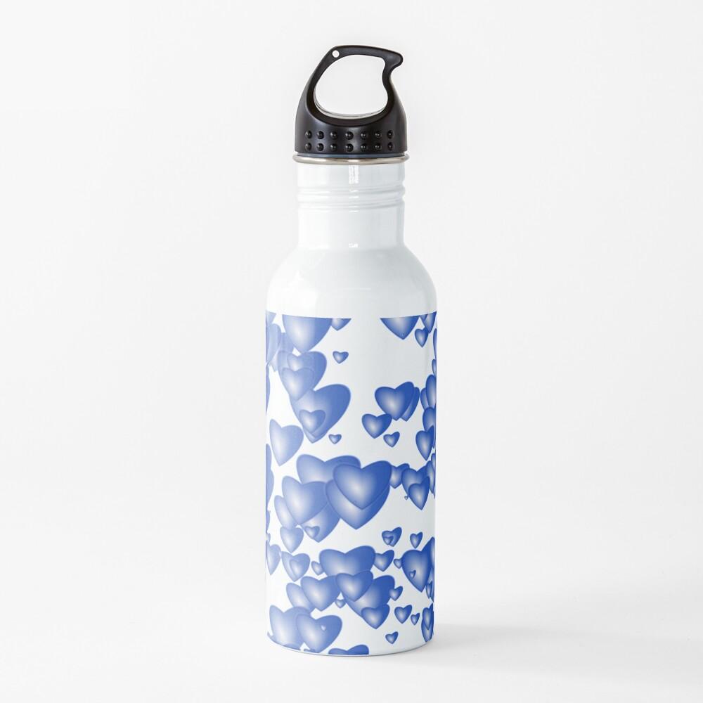 Blue heart pattern Water Bottle