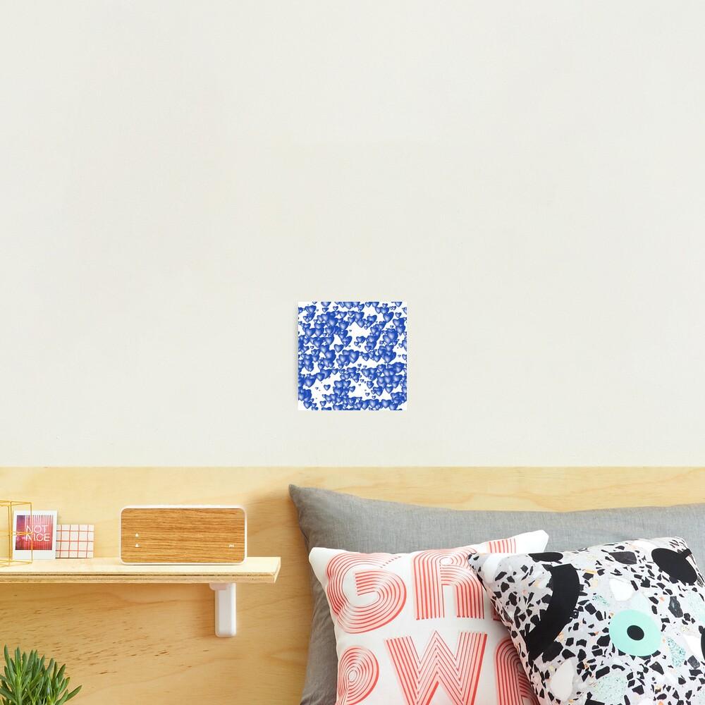 Blue heart pattern Photographic Print