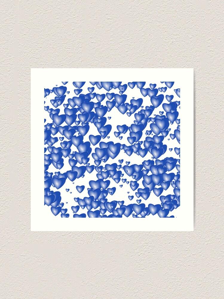 Alternate view of Blue heart pattern Art Print