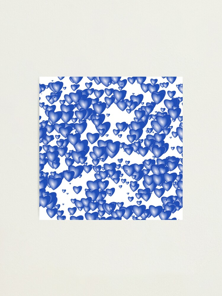 Alternate view of Blue heart pattern Photographic Print