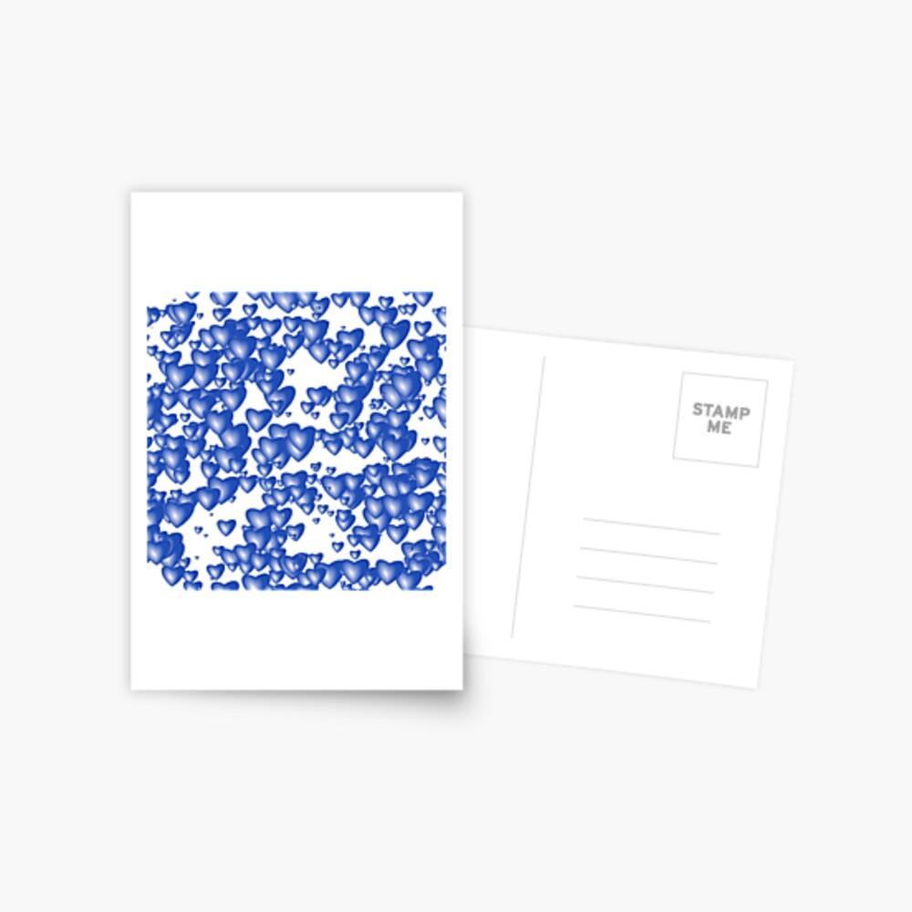 Blue heart pattern Postcard