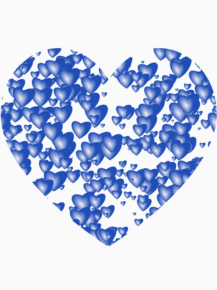 Blue heart pattern by starchim01