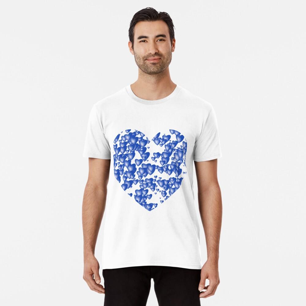 Blue heart pattern Premium T-Shirt