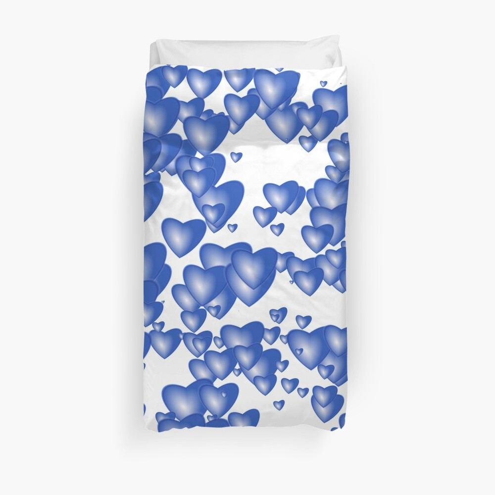 Blue heart pattern Duvet Cover