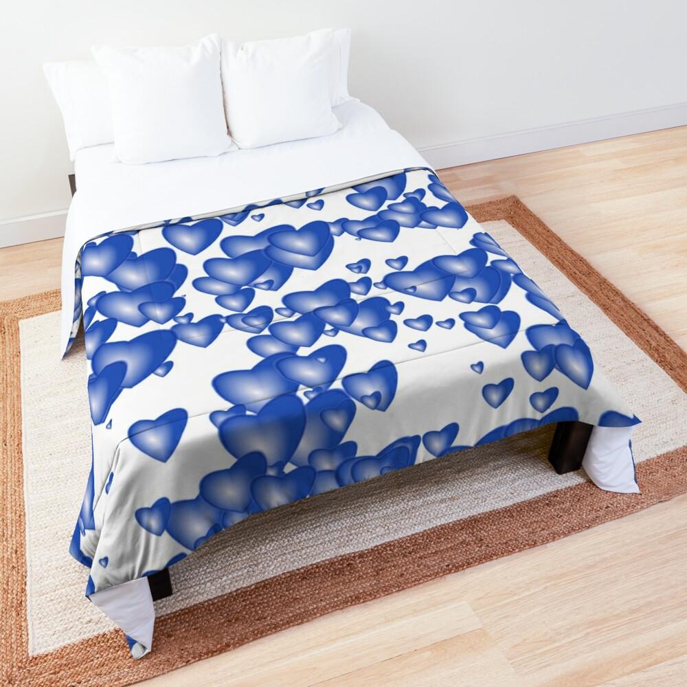 Blue heart pattern Comforter