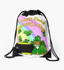 Happy Saint Patrick's Day Oliver Drawstring Bag