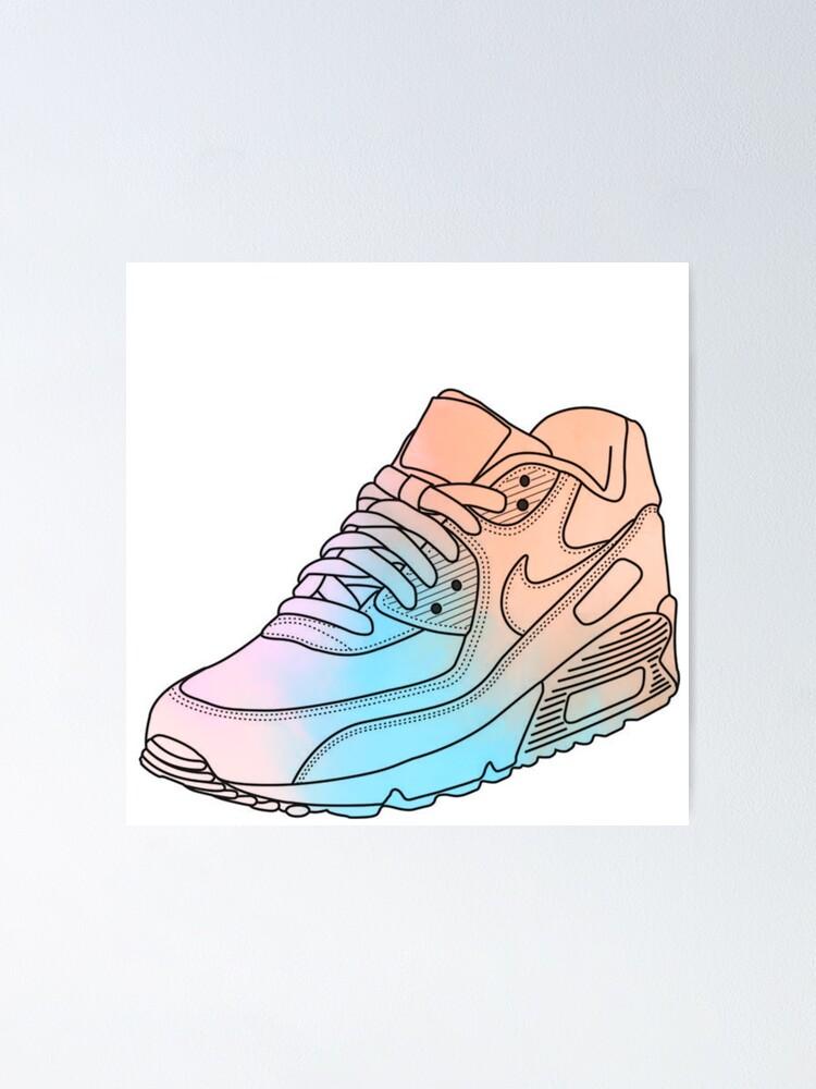 watercolor nike air max | Poster