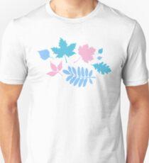 Pastel Leaves Pattern Unisex T-Shirt