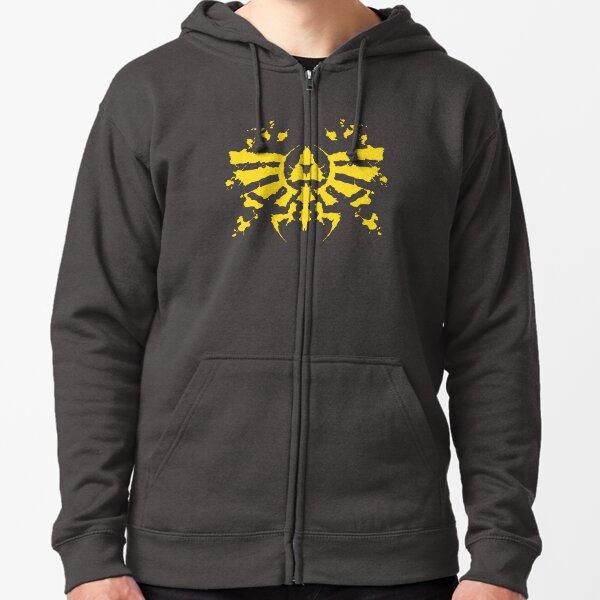 Hyrule Rorschach (gold) Zipped Hoodie