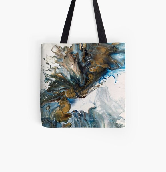 Blue Wave All Over Print Tote Bag