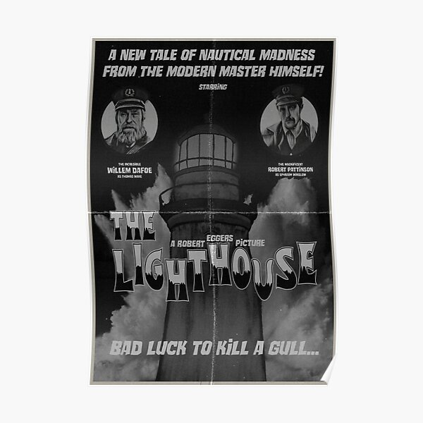 The Lighthouse Vintage Poster Poster