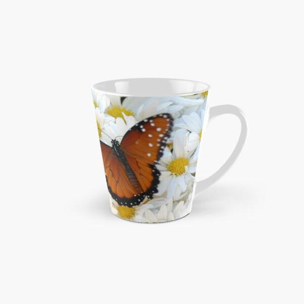 Butterfly on Daisies Tall Mug