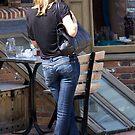 Girl in blue jeans by BizziLizzy