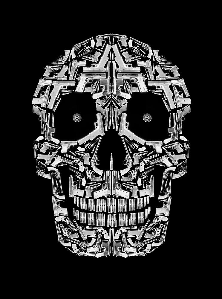 Skull Of Guns (B&W) by Carlos Aledo Sánchez