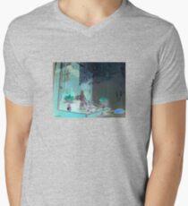 Laundromat Buddha Mens V-Neck T-Shirt