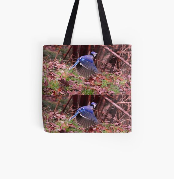 Totem  bird_blue Jays_by Yannis Lobaina All Over Print Tote Bag