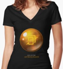 Soul of the Astrologian -black Women's Fitted V-Neck T-Shirt