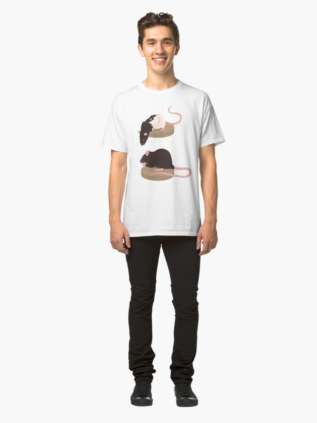 Alternate view of Curious Rat and Brown Rat Classic T-Shirt