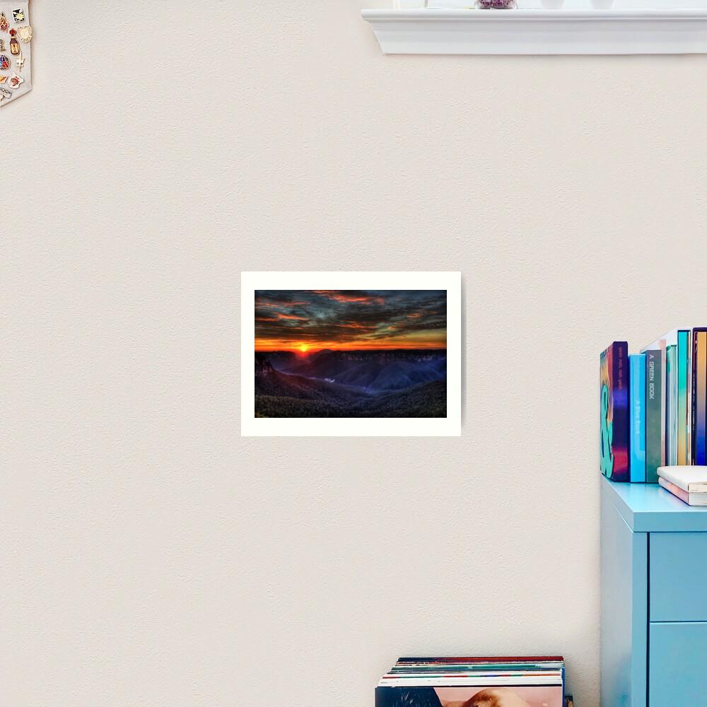 Govett's Leap Lookout Art Print