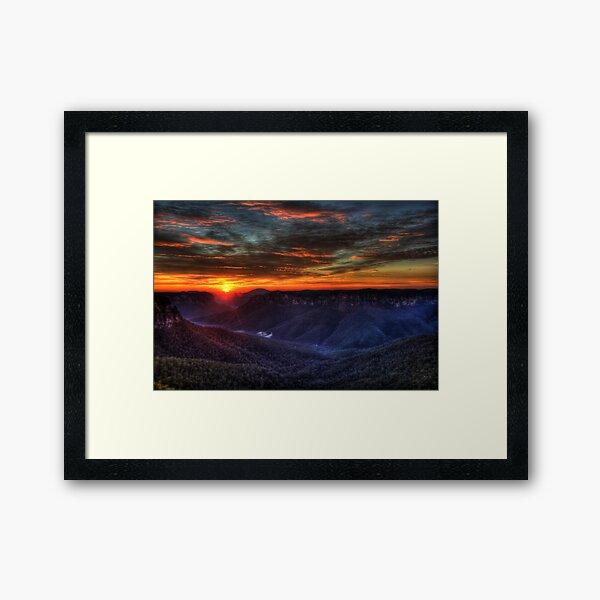 Govett's Leap Lookout Framed Art Print