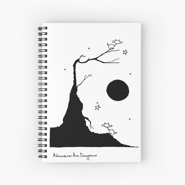 Space Cows on Tree with Stars Spiral Notebook