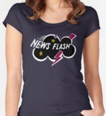Muppet News Flash - Logo Design  Women's Fitted Scoop T-Shirt