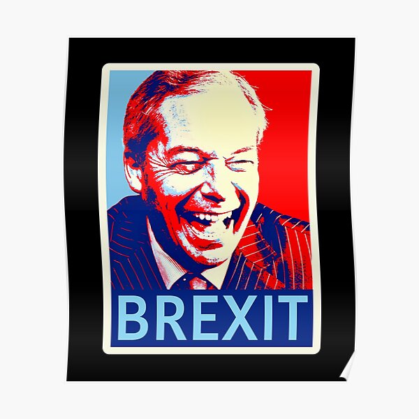 Nigel Farage Brexit Icon Celebrate in Shepard Fairey Style T-Shirt Poster