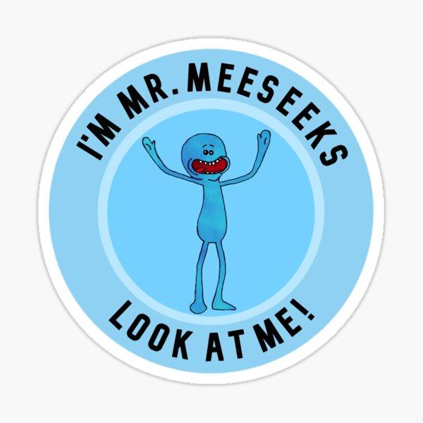 Mr. Meeseeks bagde Sticker