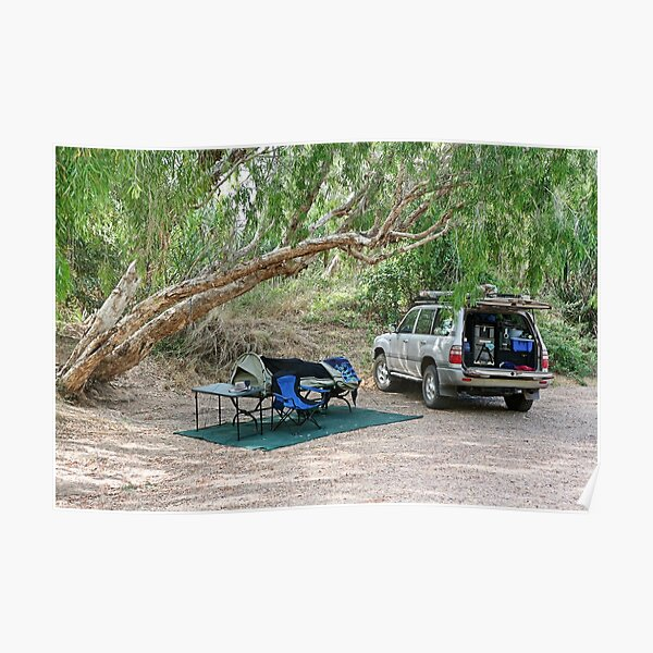 Campsite on the Gregory River at Gregory, Qld Poster