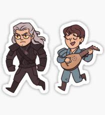 Geralt and Jaskier Sticker