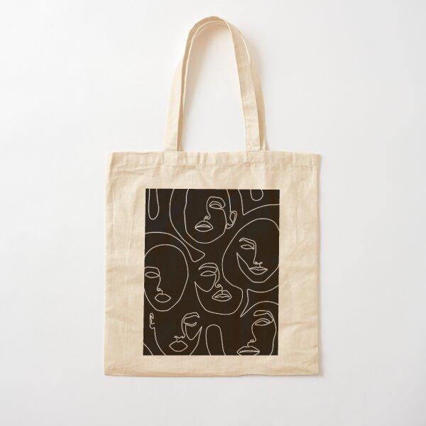 Faces in Dark Cotton Tote Bag