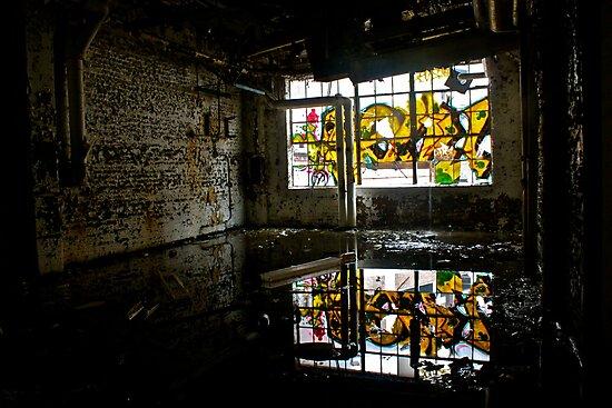 Illicit Inscriptions Reflection by BacktrailPhoto