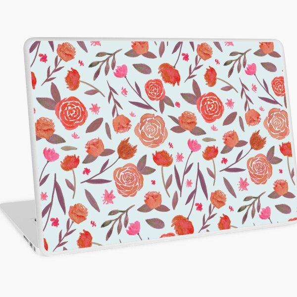 Red Spring Floral Pattern Laptop Skin