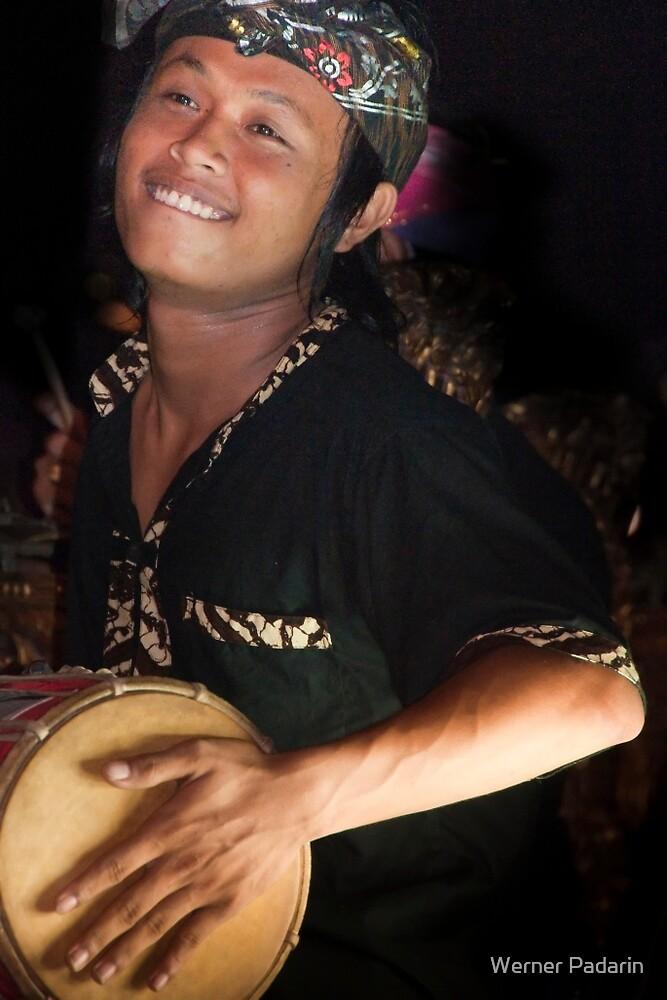 Barong Drummer by Werner Padarin