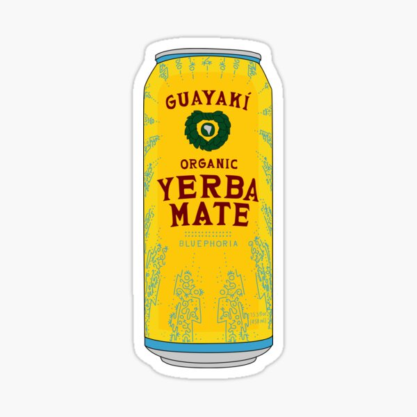 Yerba Mate Organic Drink Can Sticker