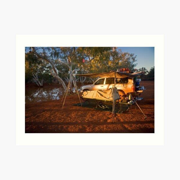 Camping at North Pool, Canning Stock Route, WA Art Print