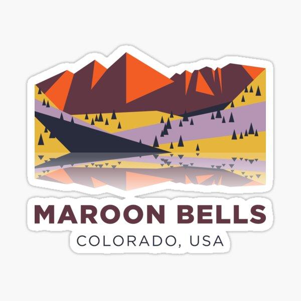 Maroon Bells - Colorado, USA Sticker