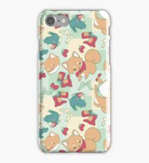 Shiba & Bird Strawberry Picnic iPhone Case/Skin