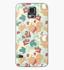 Shiba & Bird Strawberry Picnic Case/Skin for Samsung Galaxy
