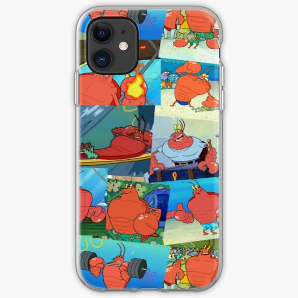 Larry the Lobster from Spongebob Collage iPhone Soft Case